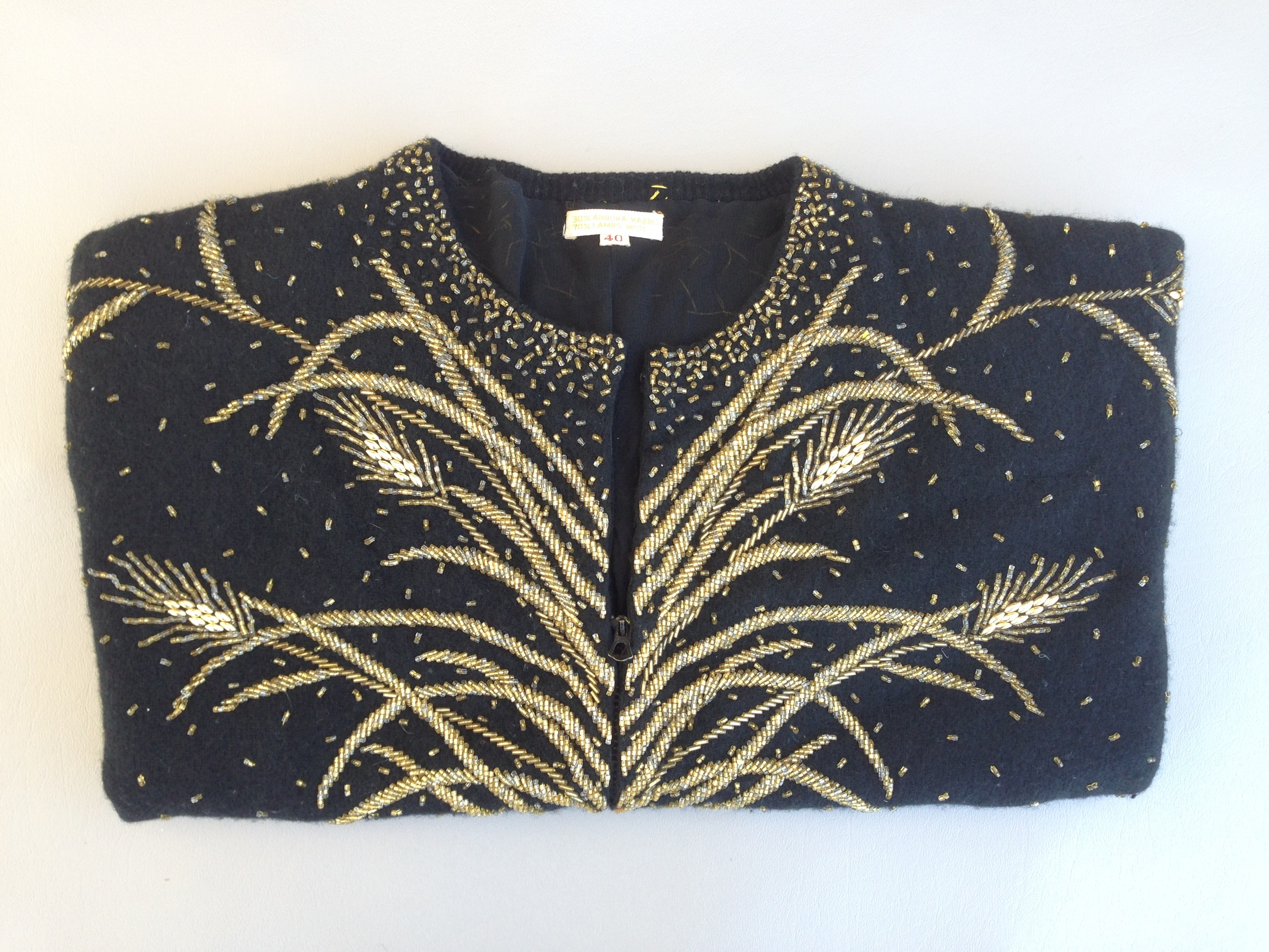 1940's beaded sweater