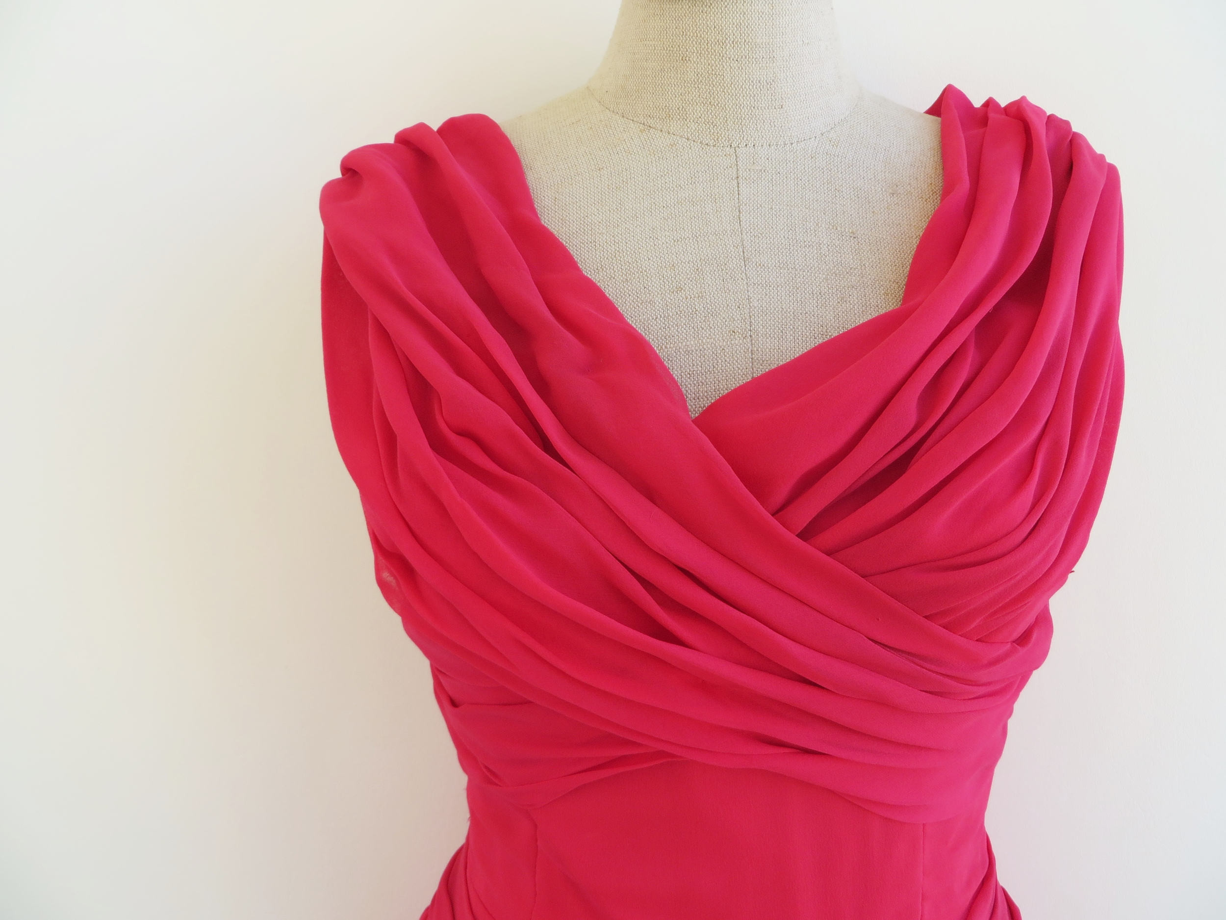 1950's Peggy Hunt silk chiffon evening gown