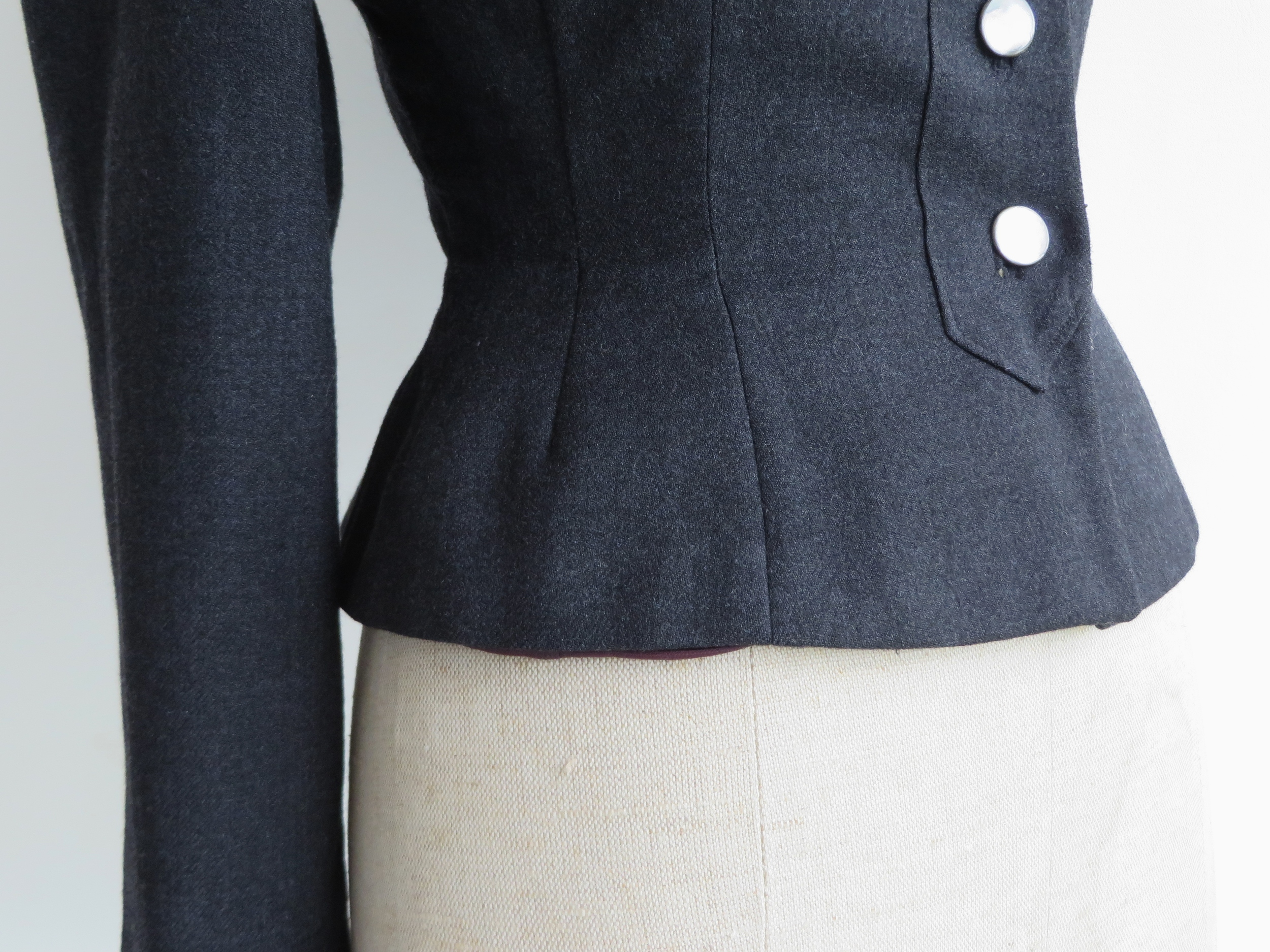 Vintage 1950's wool jacket with shell buttons by Hyde Park