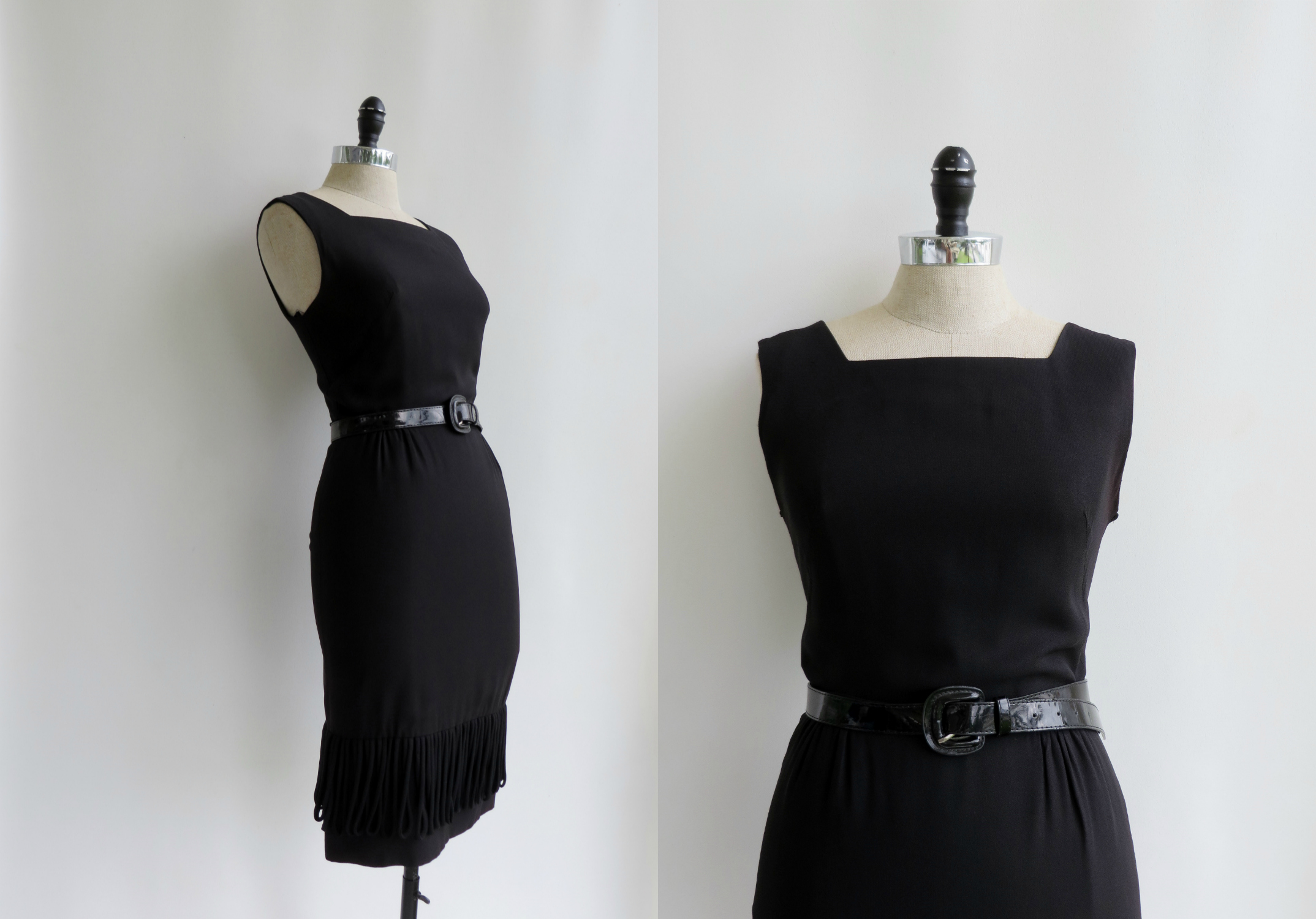 1950's - 1960's classic black dress by Julie Miller of California
