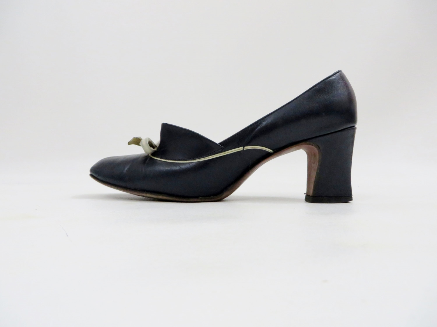 1960's mod leather shoes by Christina of Copenhagen, size 6 B