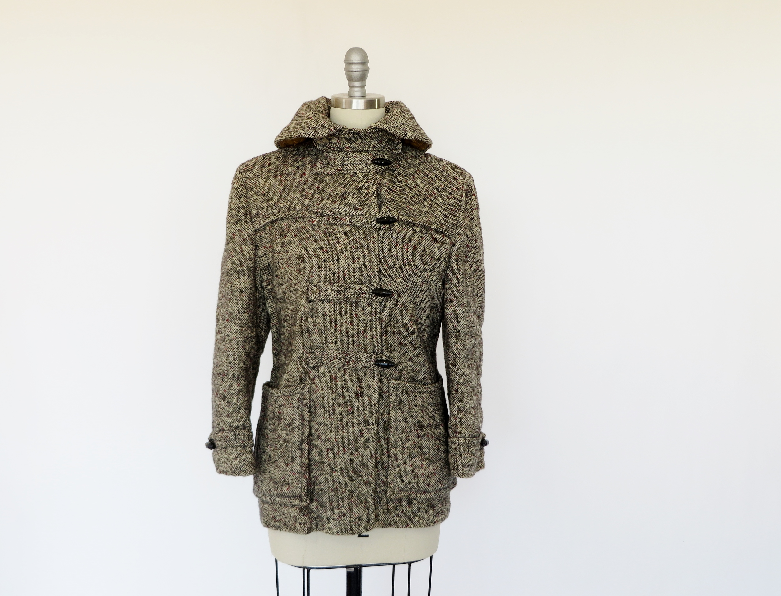 1940's - early 1950's tweed coat by Honeylane, a division of Sears, Roebuck, & Co.