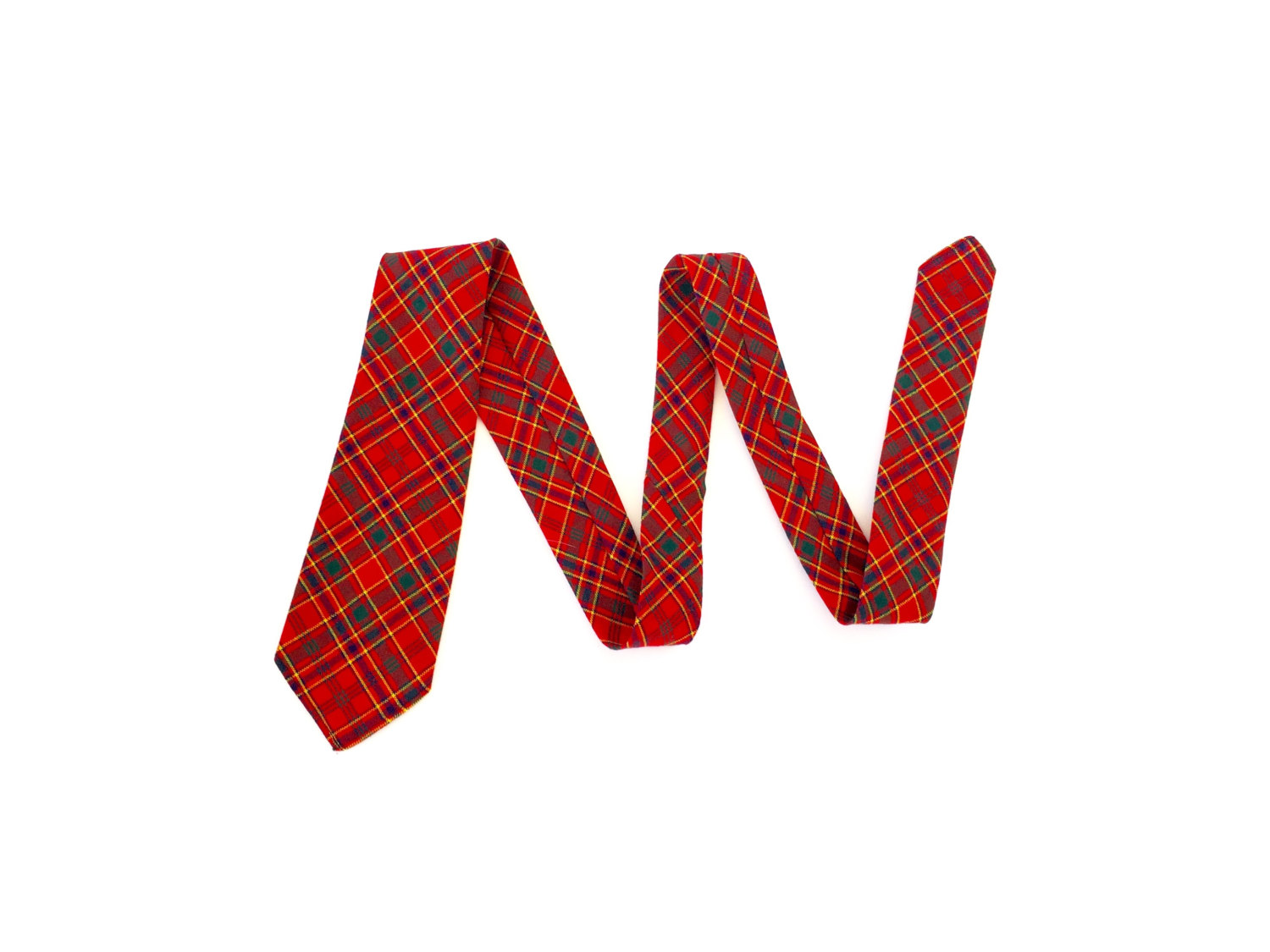 Vintage tie in Munro clan plaid