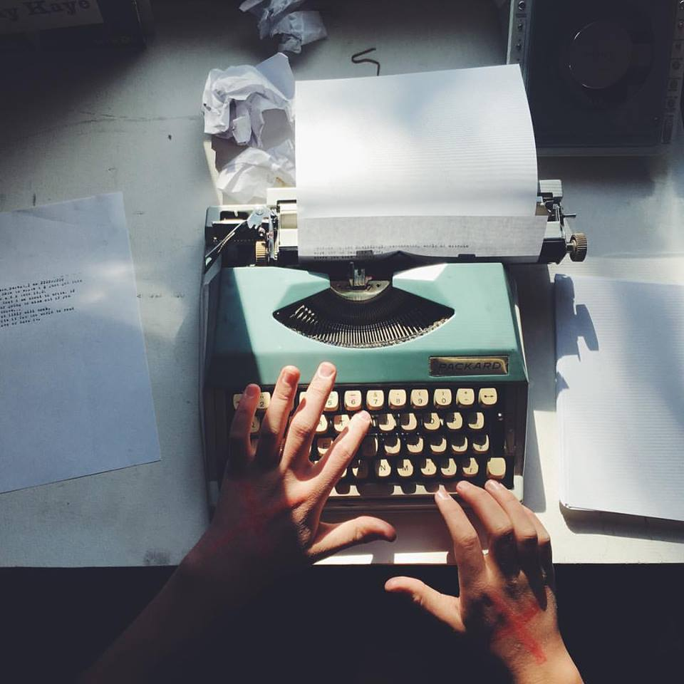 typing away on a family heirloom