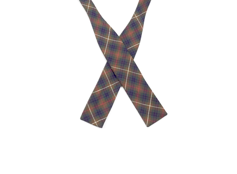 1950's Tartan Plaid Bow Tie