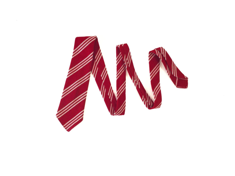 1960's Wool Necktie in a fantastic red