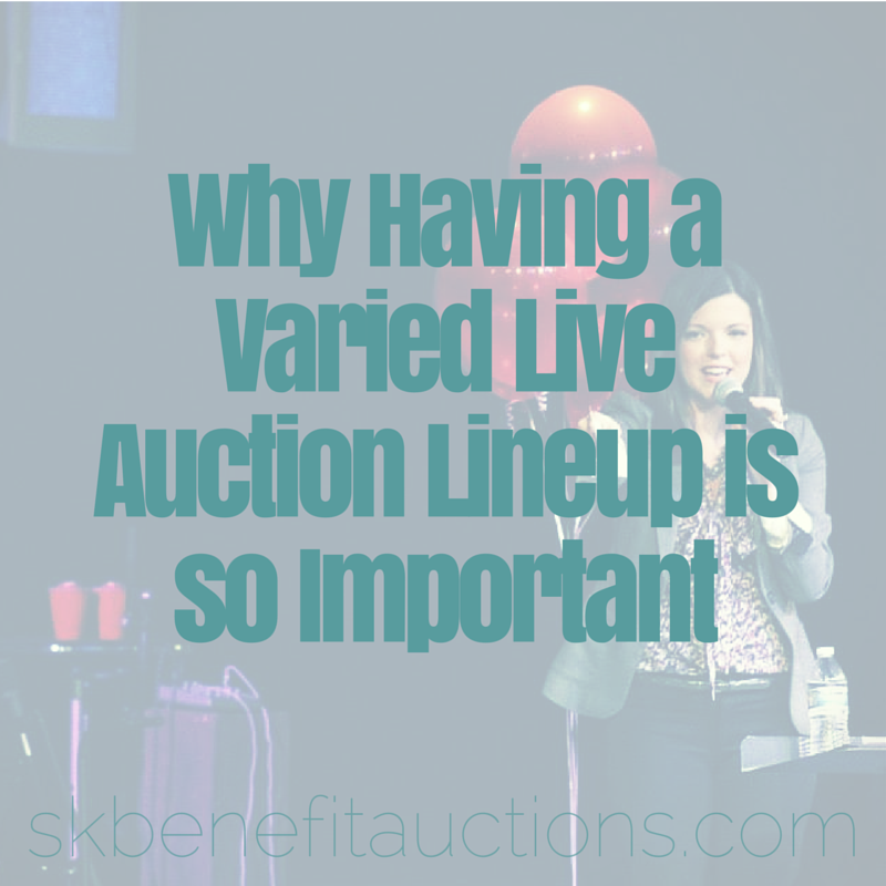 Live Auction Item Lineup | Sarah Knox Benefit Auctions