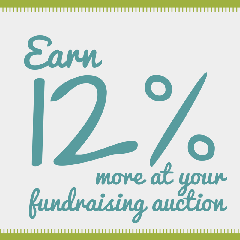 Opening your silent auction before the event begins will earn an average of 12% more revenue | Sarah Knox Benefit Auctions