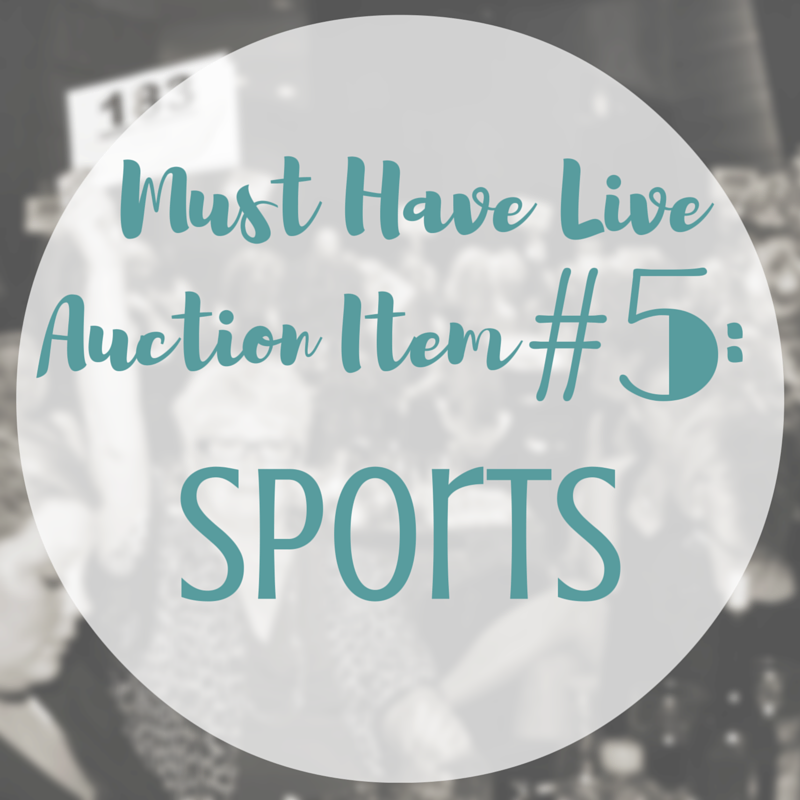 Sports-related live auction items can be a real hit and create compitative bidding | SK Benefit Auctions