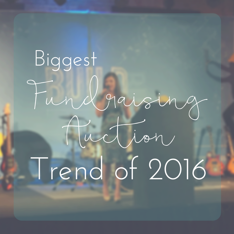 Biggest Fundraising Auction Trend of Spring 2016 | Sarah Knox Benefit Auctions
