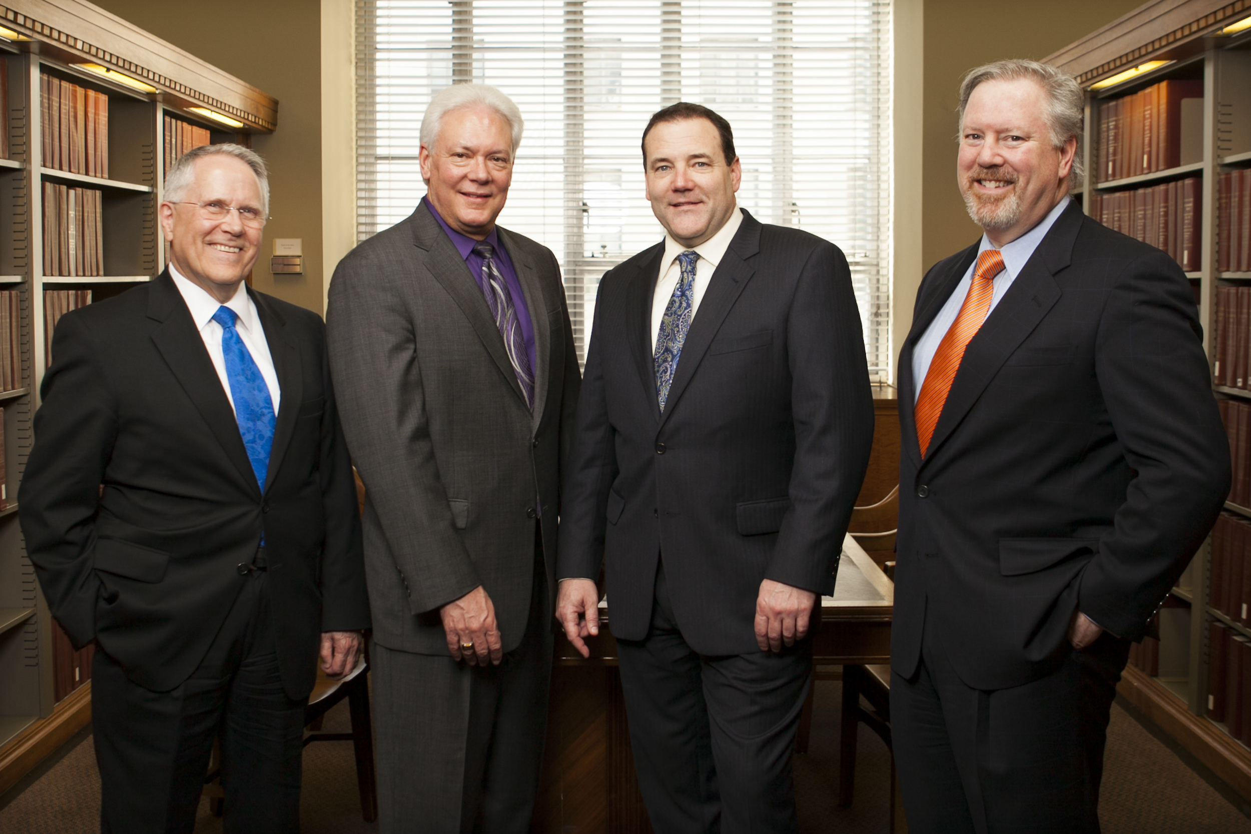 Fred Lang, Randy Berquist, A. Reese Madsen, Jr., and Peter Shelby the the DOJ Library.