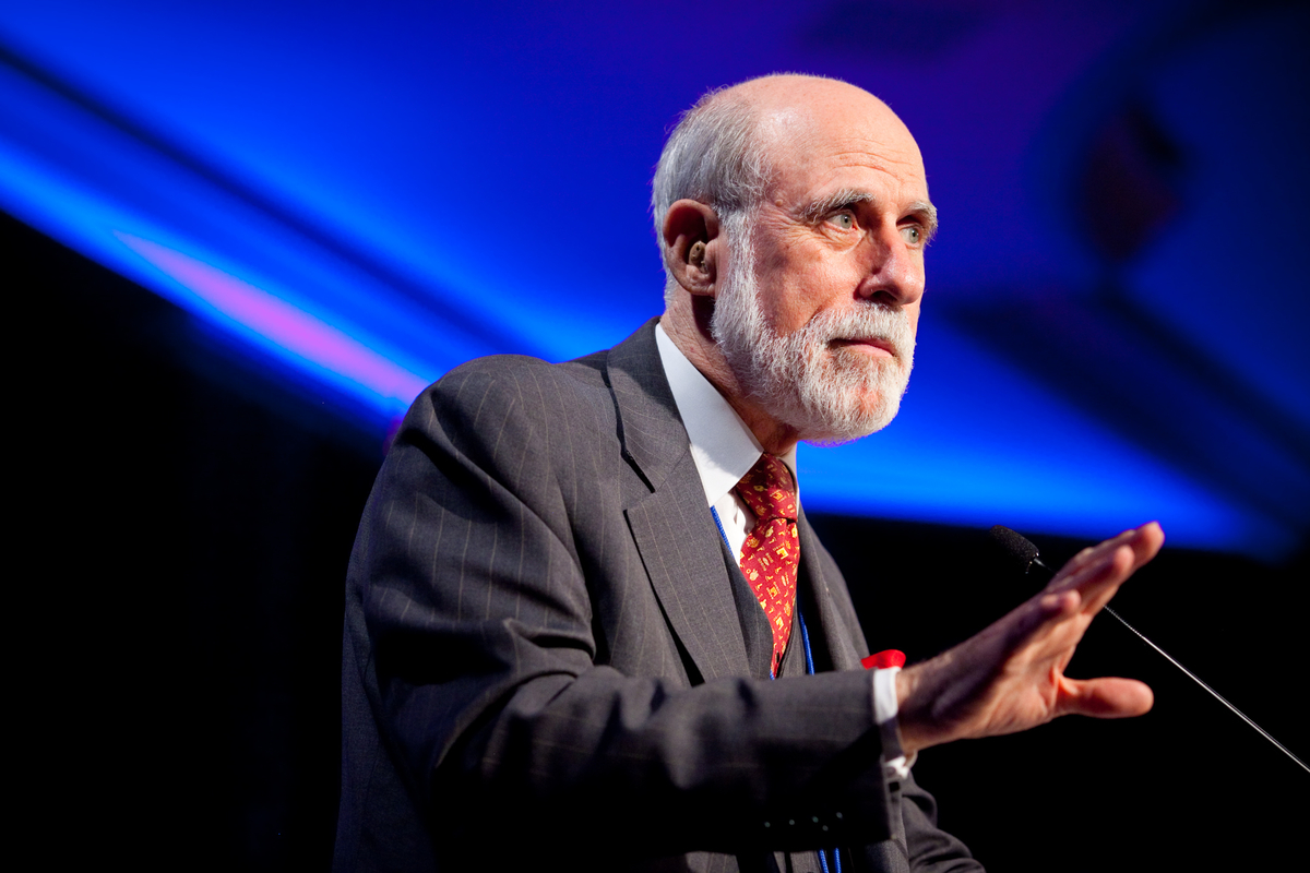 Vinton Cerf, Vice President and Chief Internet Evangelist for Google