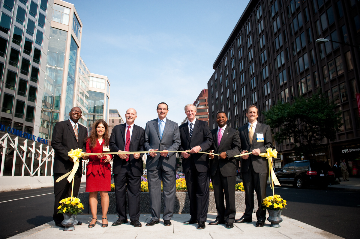 Golden Triangle Business Improvement District ribbon cutting ceremony on Connecticut Avenue at K St., NW.