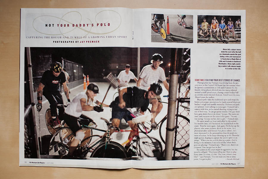 Bike Polo, Washington Post Magazine