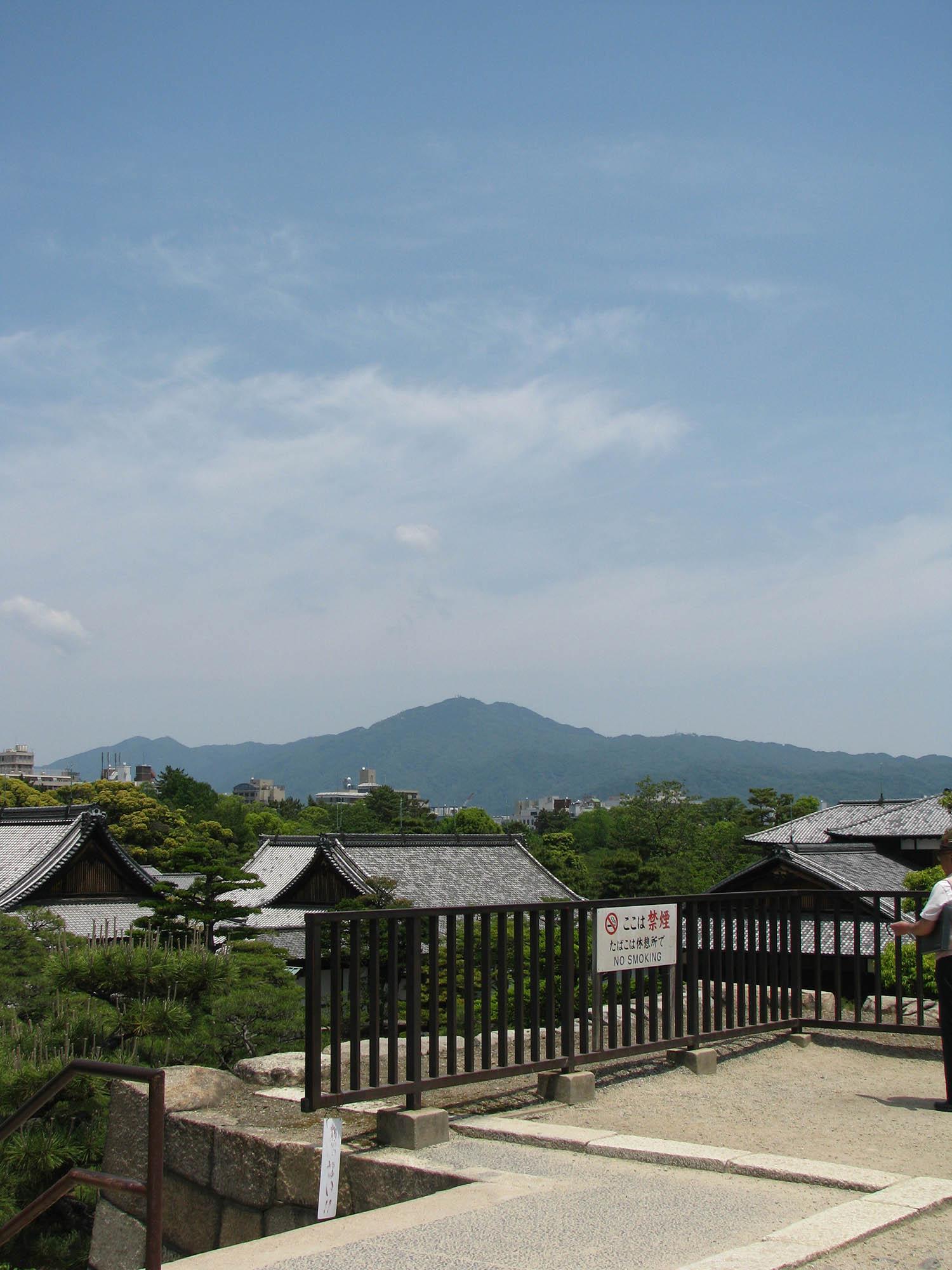 Mt. Hiei from Nijo Castle