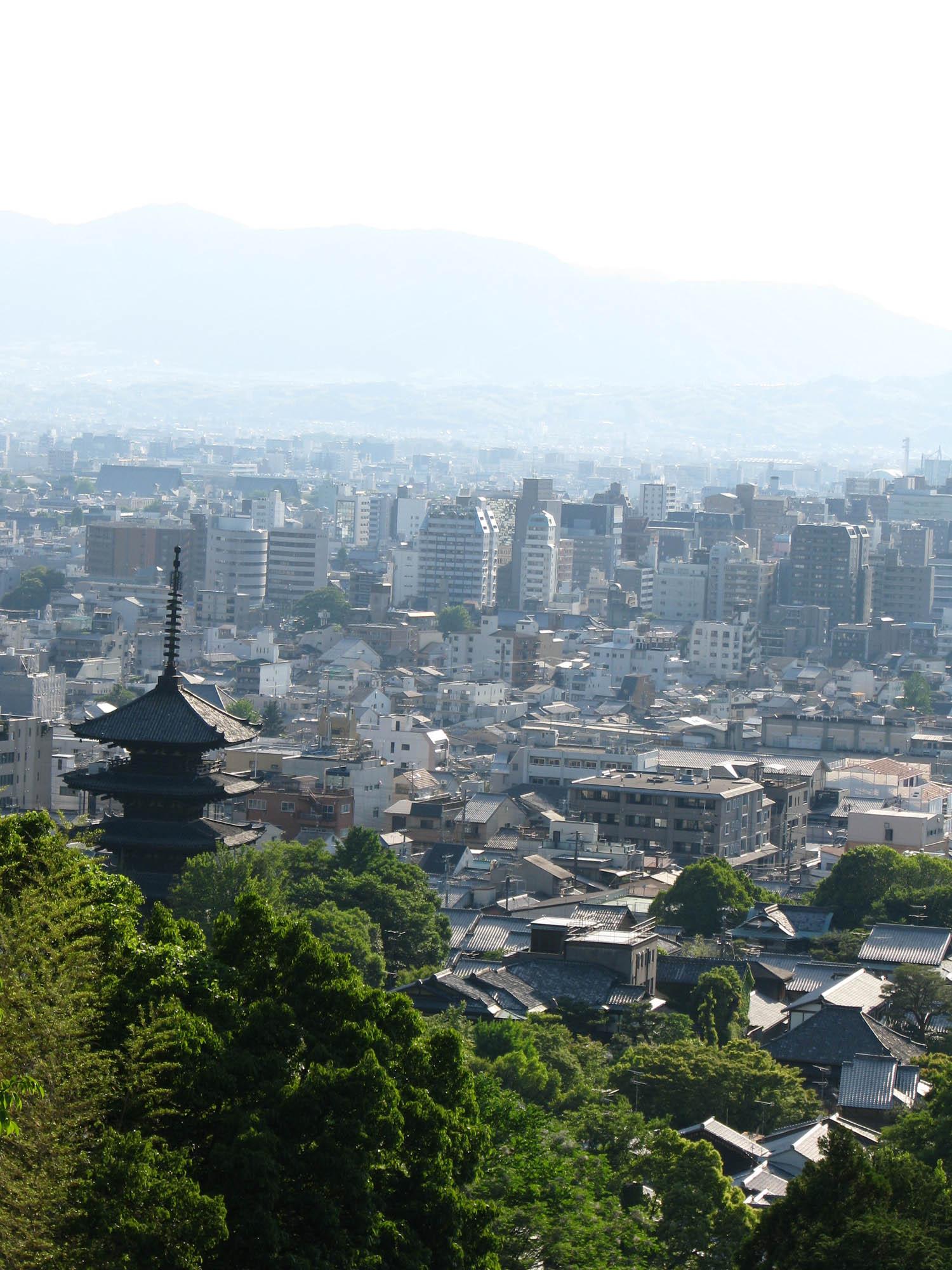 Kyoto from Mount Higashi