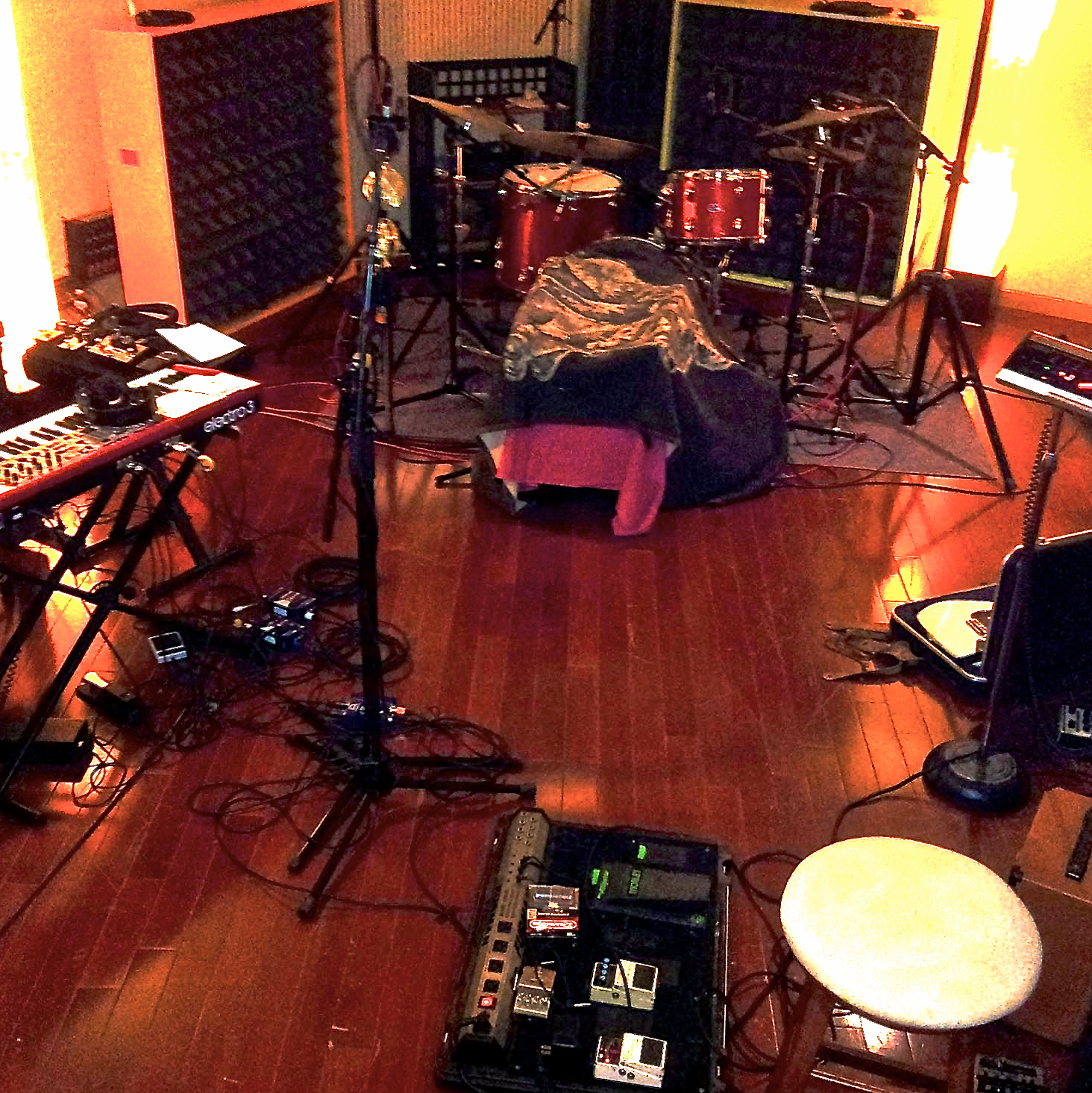 Some of our set-up at More Sound Studio