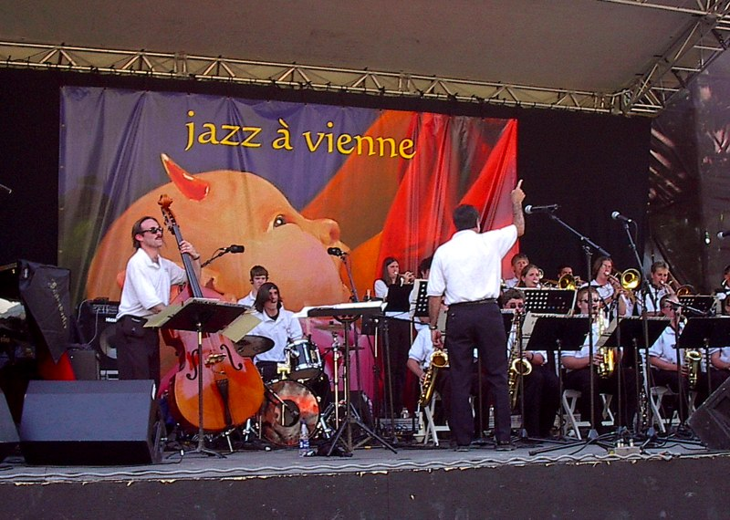 State College Area High School Jazz Band at the 2003  Jazz a Vienne  festival in Vienne, France.