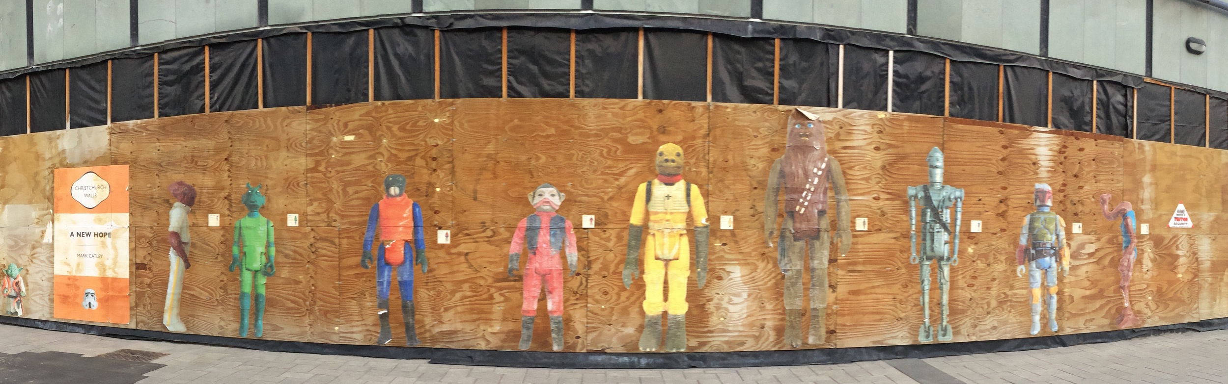 Downtown Christchurch may be under construction, but they seem to be handling it well.