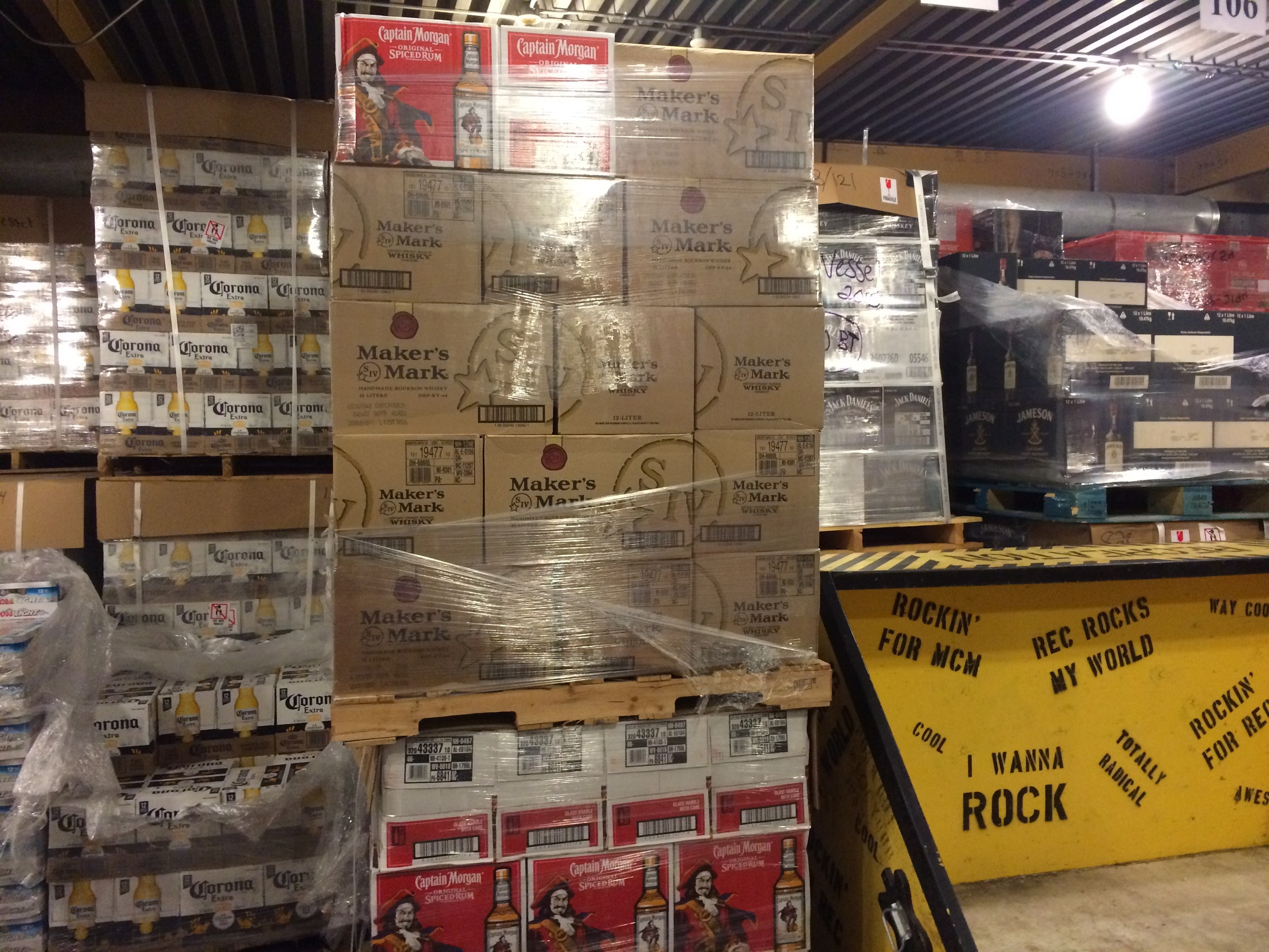 Sometimes I get to visit the beverage warehouse where there's more booze than I've ever seen in my life.