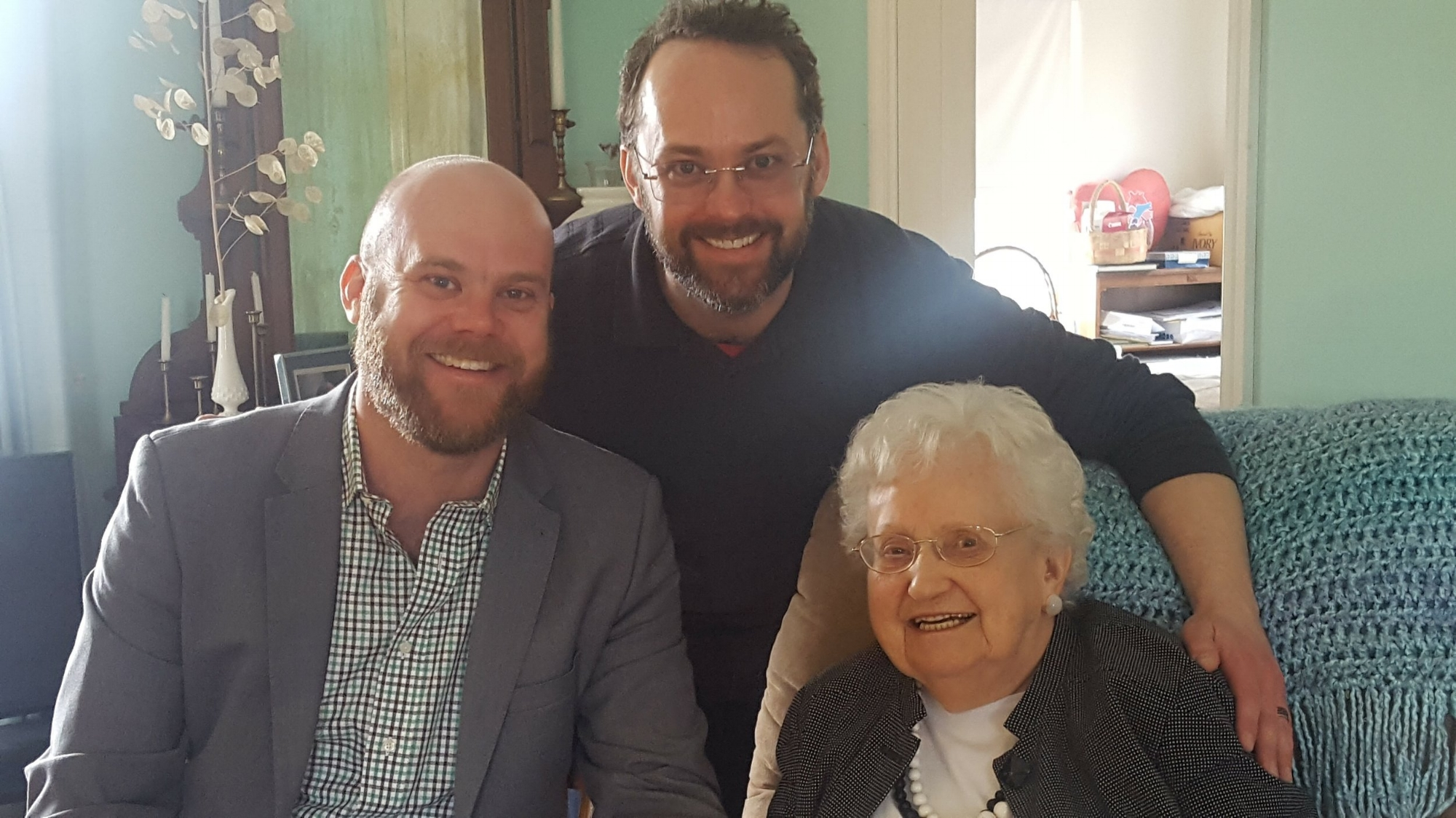 Me, my brother and the centenarian.