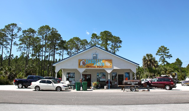 The raw bar sits right off of County Road 30A west of Apalachicola, FL