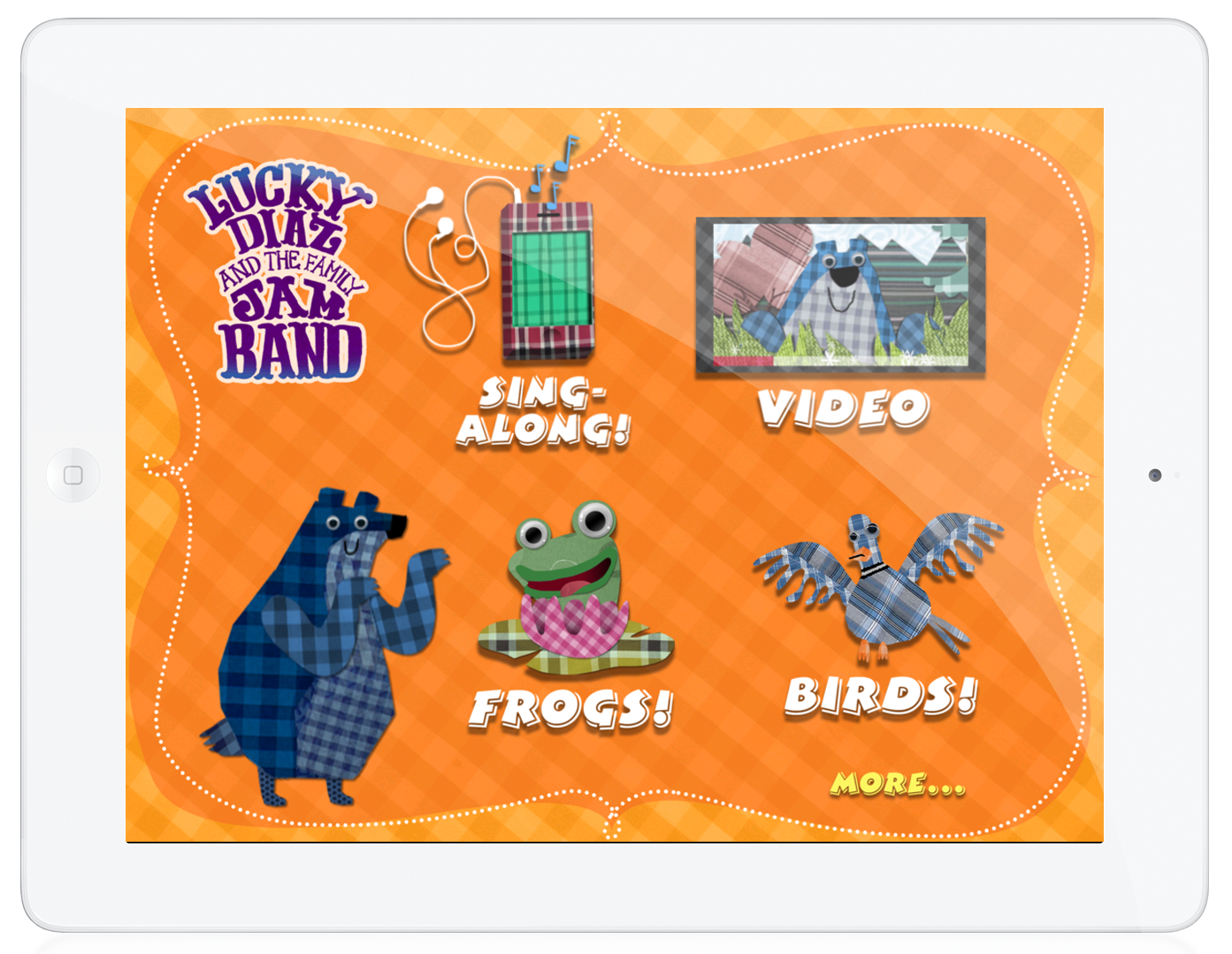 The hit song by Lucky Diaz and the Family Jam Band is now a hit iPad app for kids!   • Sing along to the song with onscreen lyrics!