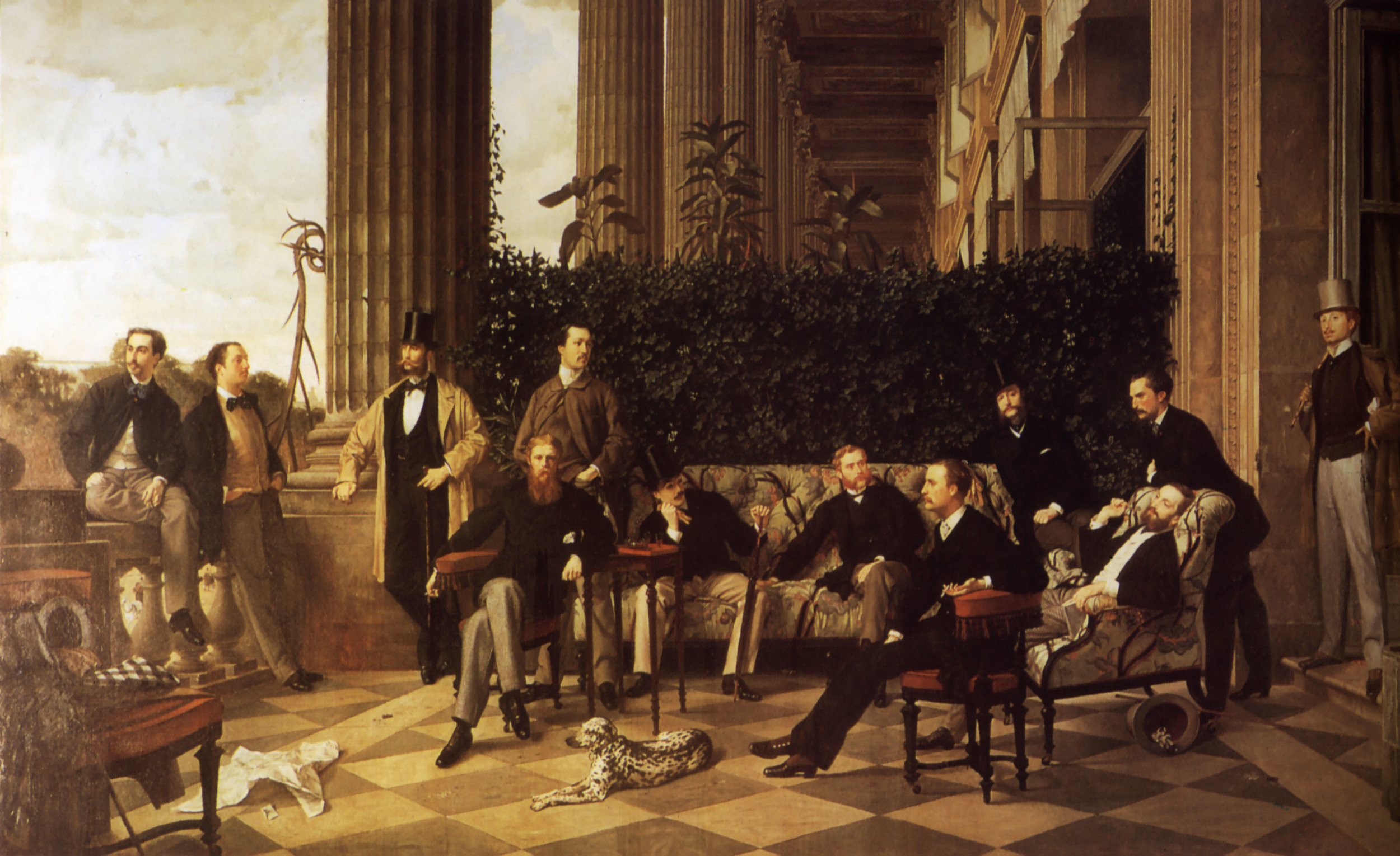 The circle of the Rue Royal (James Tissot)