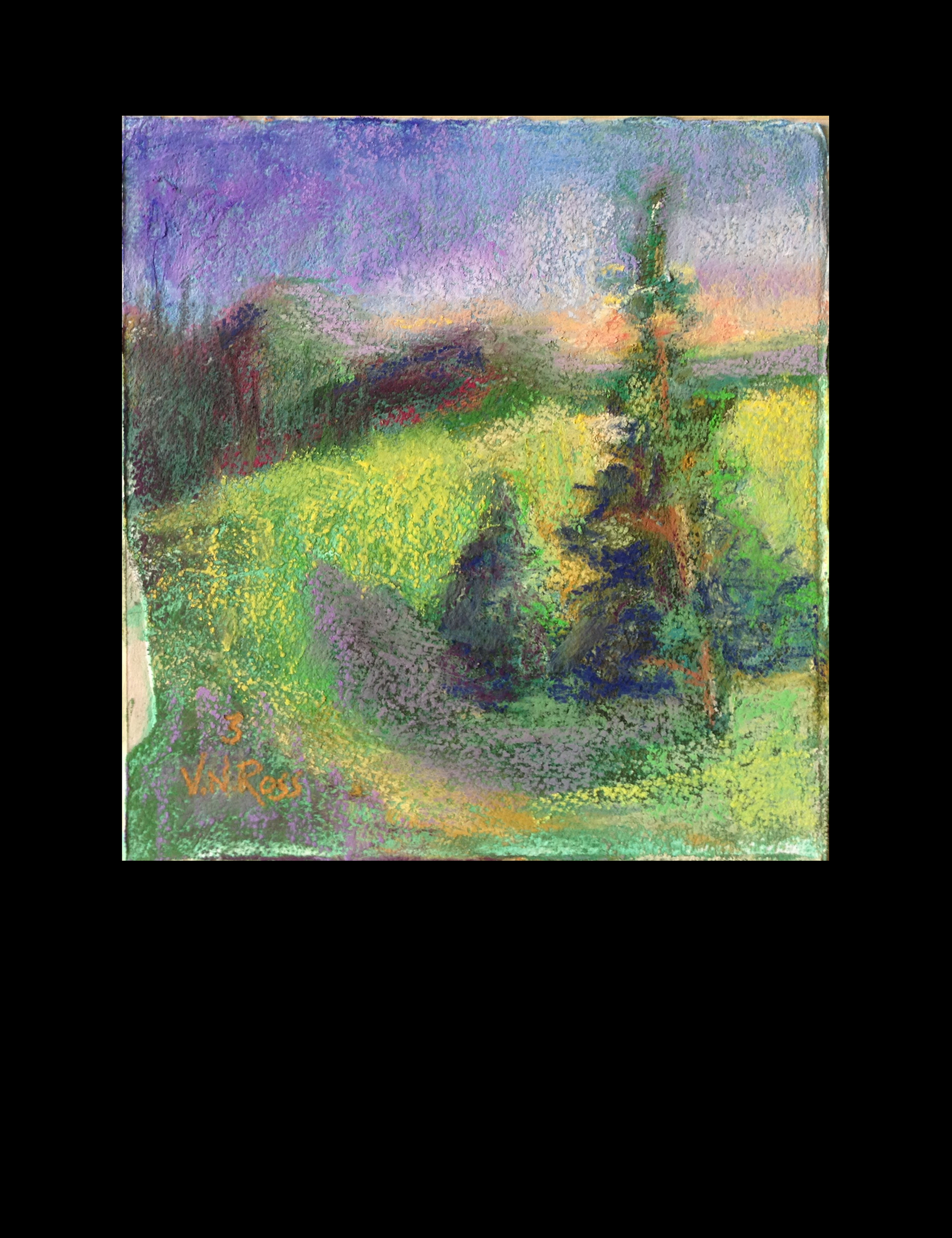 """#3 Over and Over Again  7.5"""" x.7.5"""" mixed media  © V.N.Ross"""