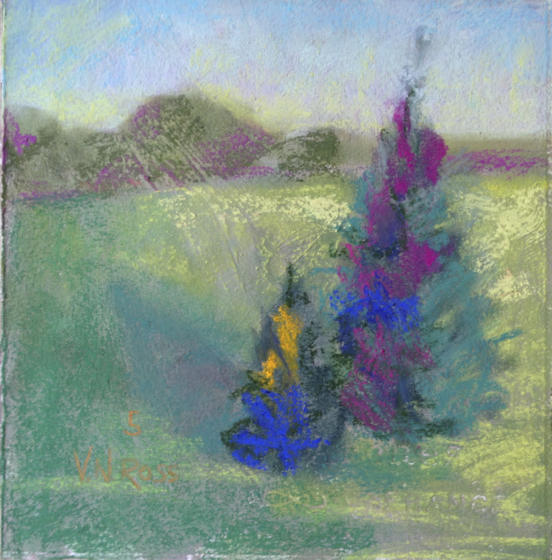 """#5 Over and Over Again 7.5"""" x 7.5"""" Pastel © V.N.Ross"""