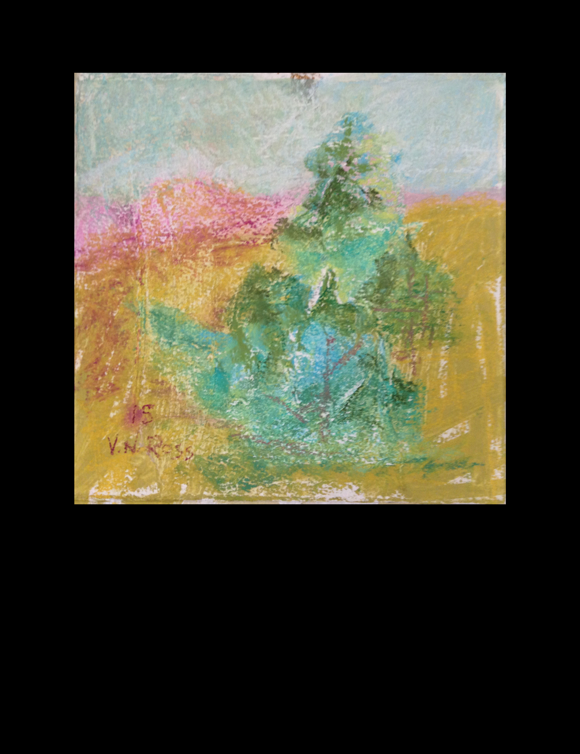 """#15 Over and Over Again 7.5"""" x 7.5"""" Pastel © V.N.Ross"""