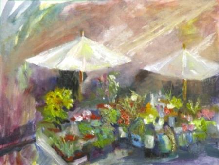 """Rome Flowers, 11x14"""" Oil, ©V.N.Ross"""