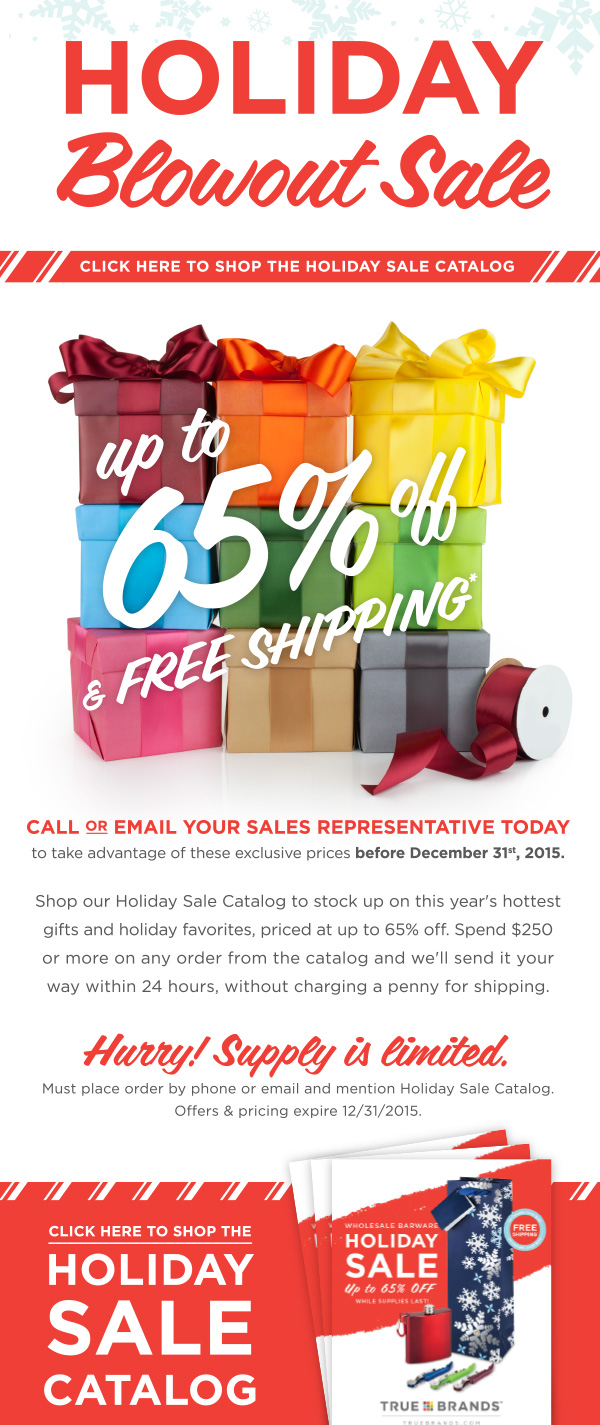 Holiday Blowout Sale Promotion