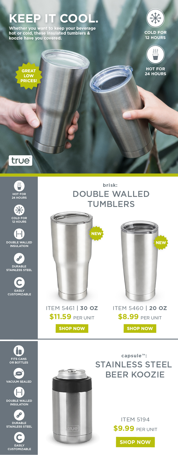 Stainless Steel Tumblers Email