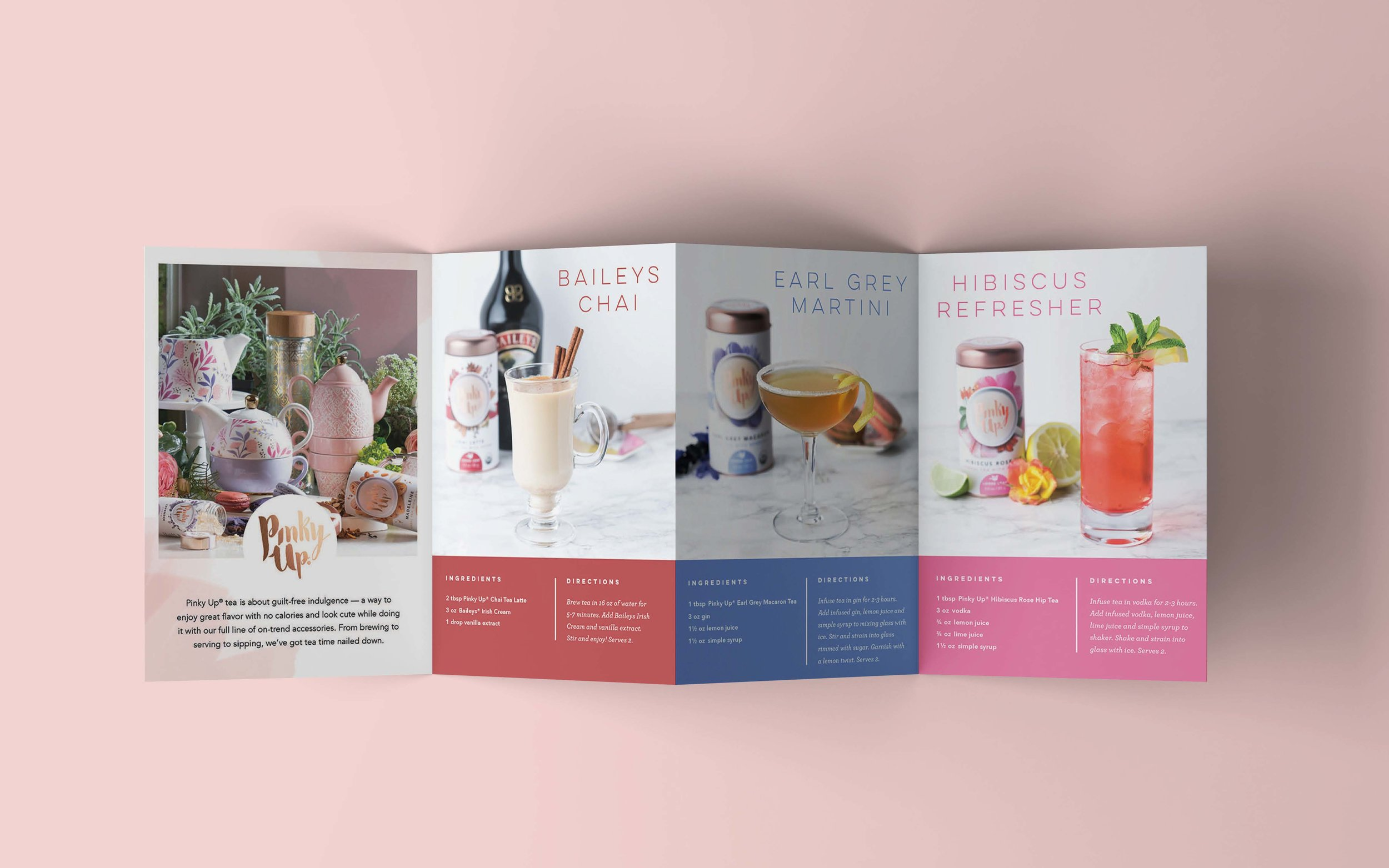 Cocktail Recipe Accordion Brochure Inside