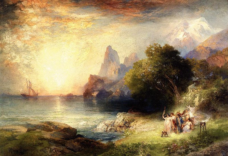 Ulysses and the Sirens , by Thomas Moran, c. 1900