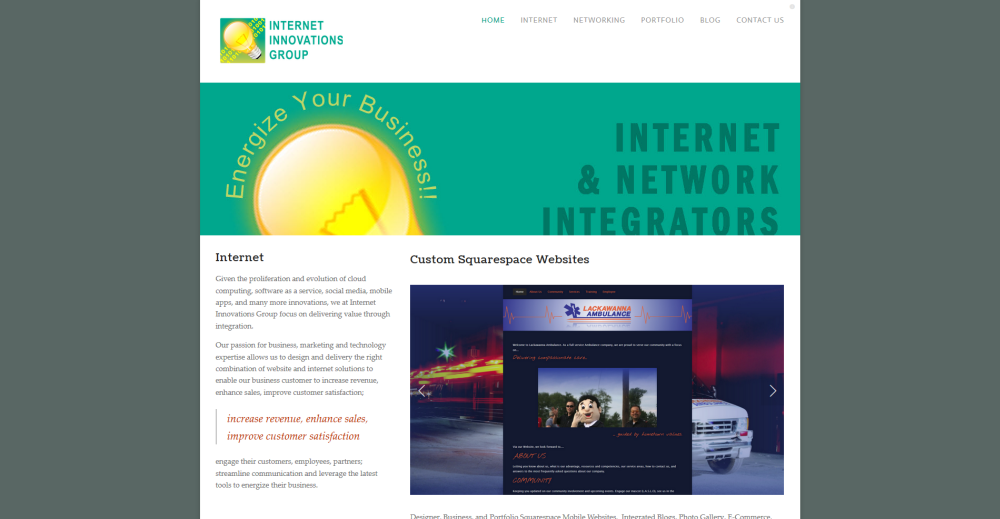 Internet Innovations Group Website