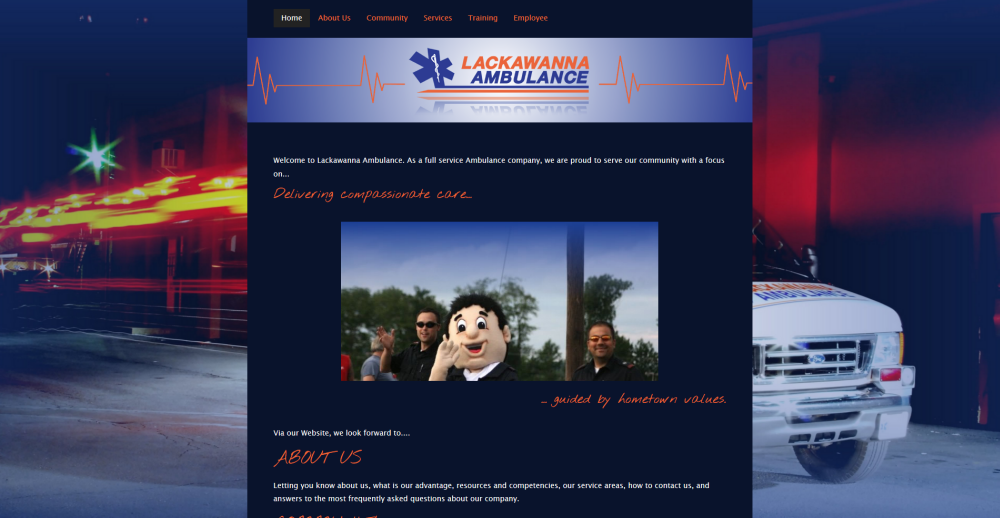 Lackawanna Ambulance Website