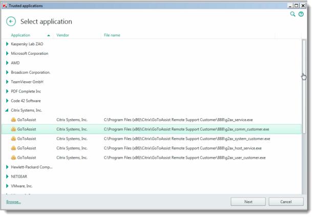 Kaspersky Small Office Security 4 blocks GoToAssist interaction
