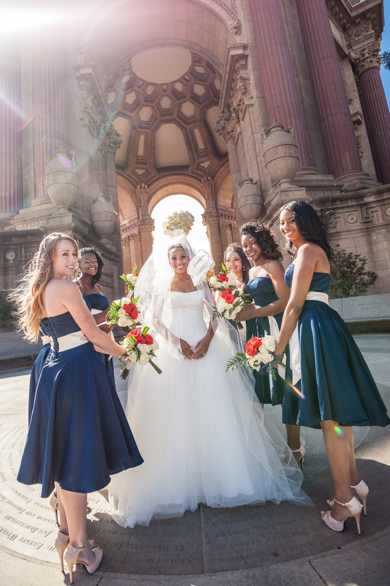 palace of fine arts bridesmaids