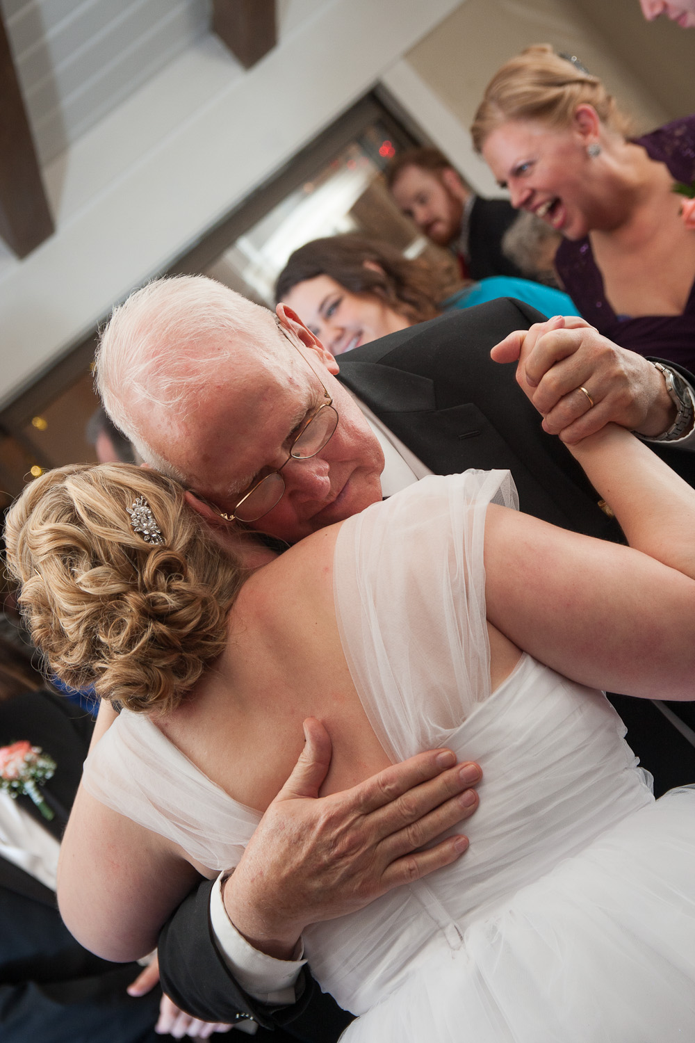 bride and grandpa