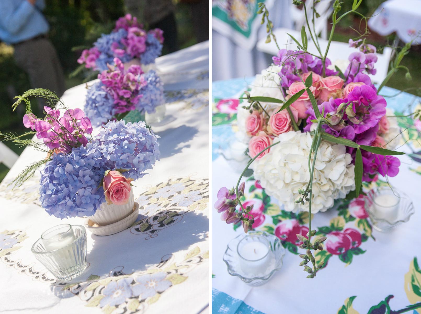 vintage tablecloths wedding