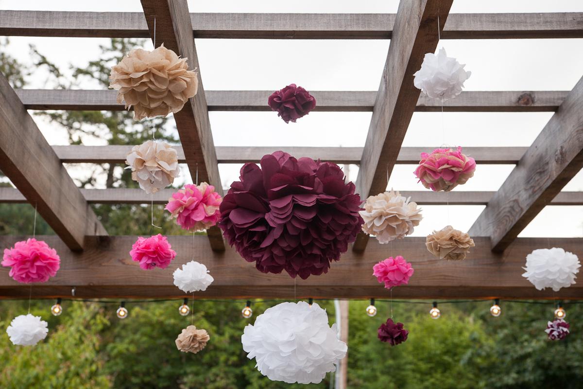 DIY garden wedding