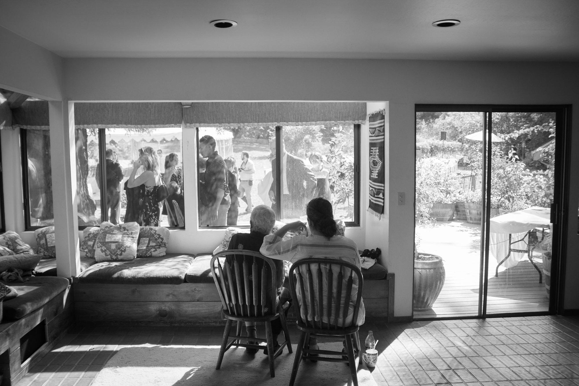 black and white reception photo