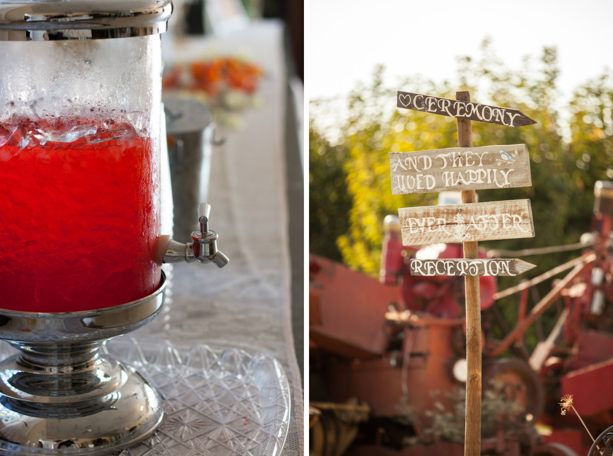 country wedding details
