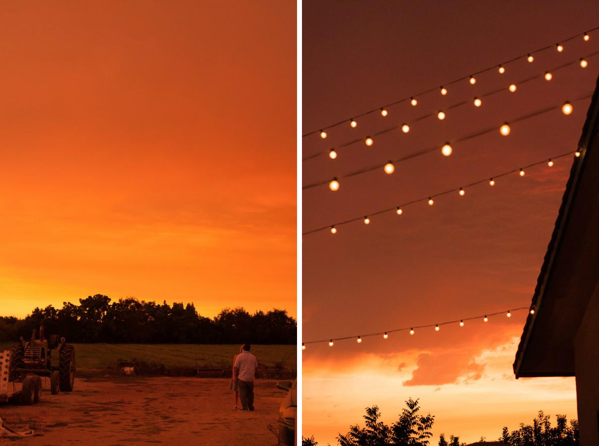 stockton wedding sunset