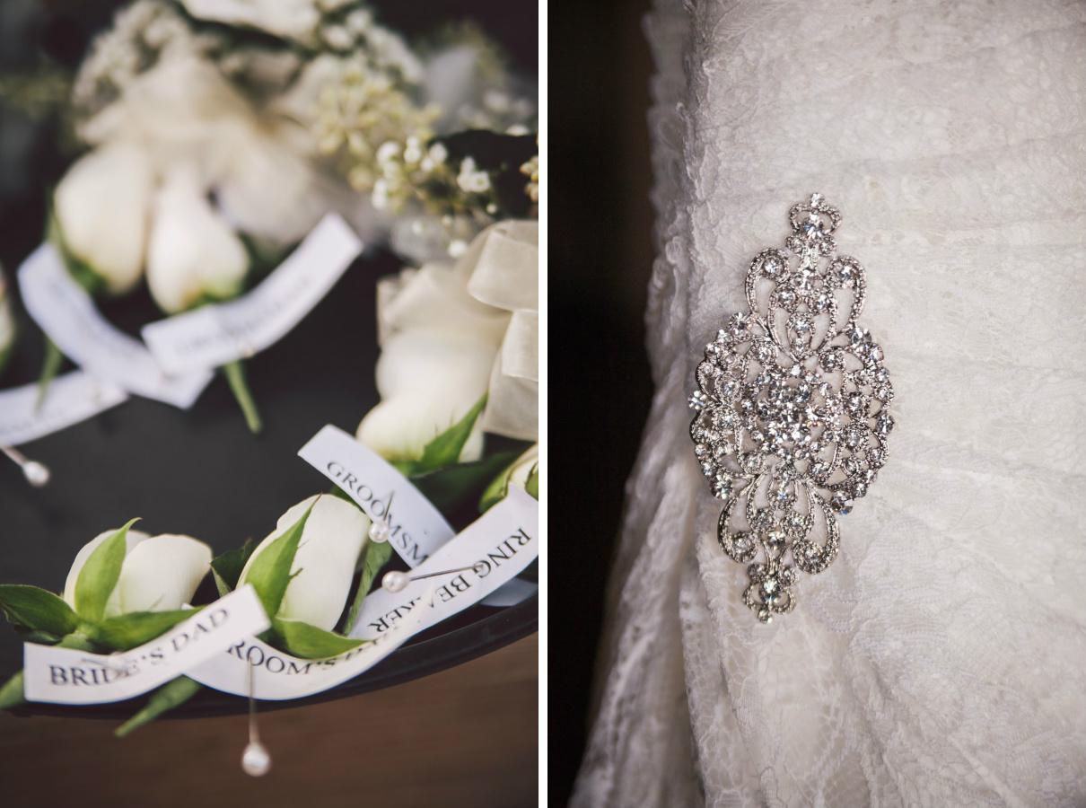 black tie wedding details