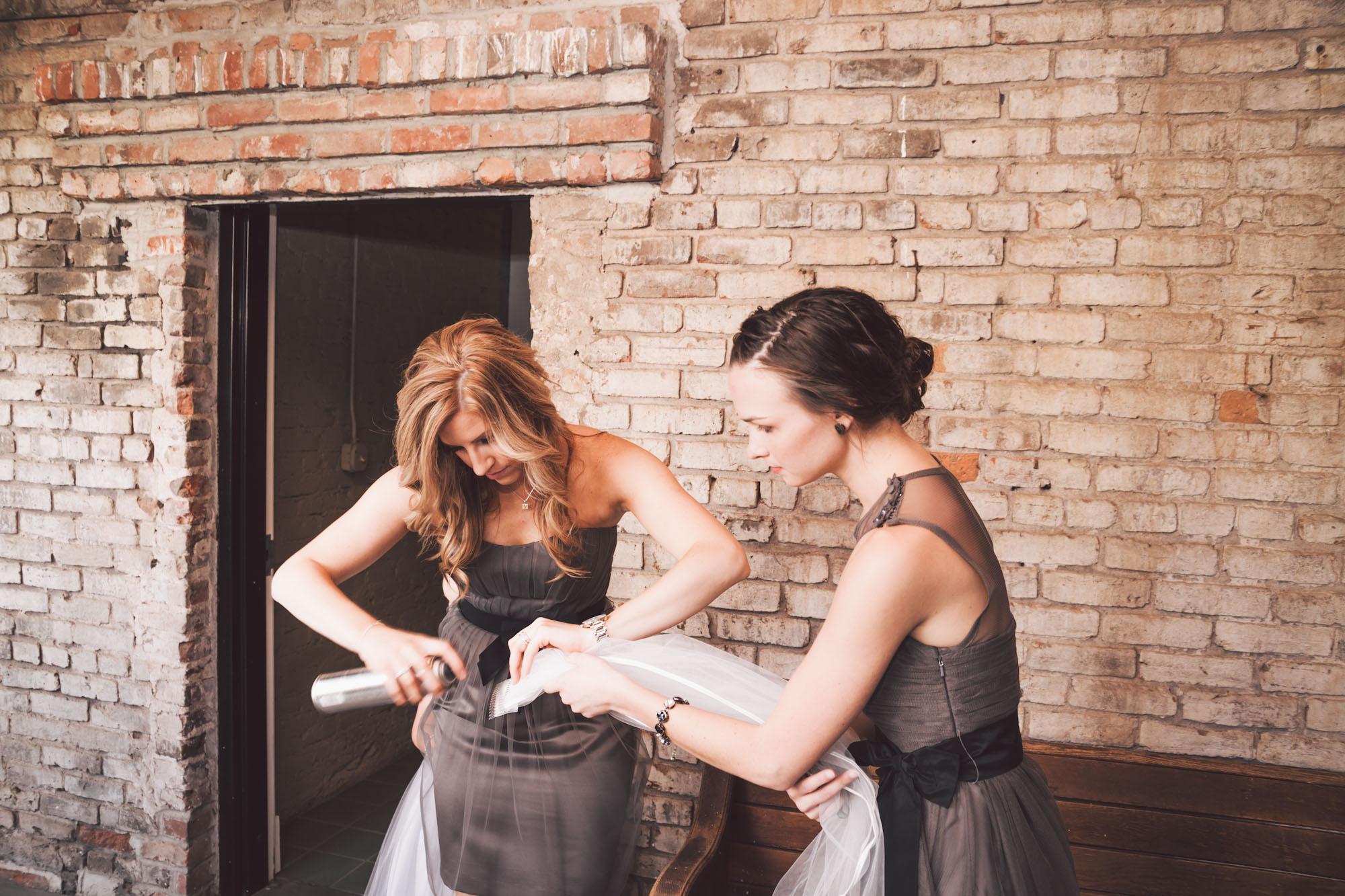 hairspray bridal veil