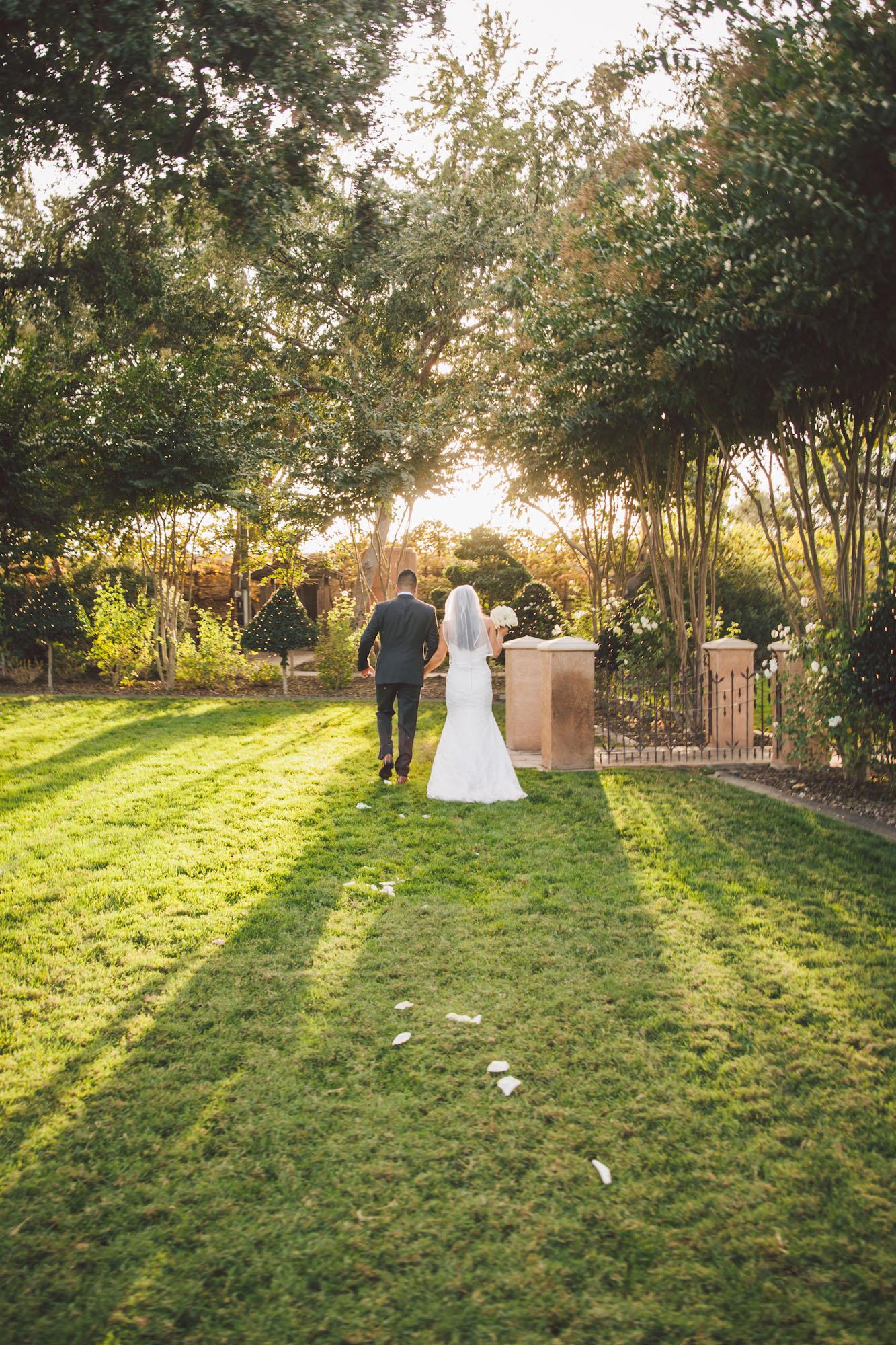 garden wedding modesto