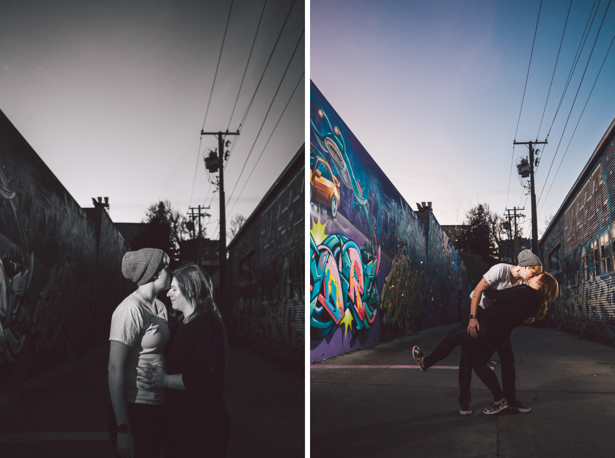 graffiti engagement photography sacramento